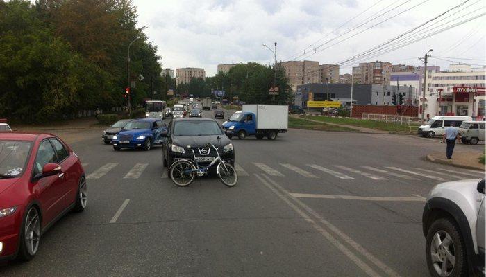 ВКирове наВоровского сбили 20-летнюю велосипедистку