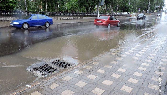 Несколько участков ливневой канализации вКирове починят
