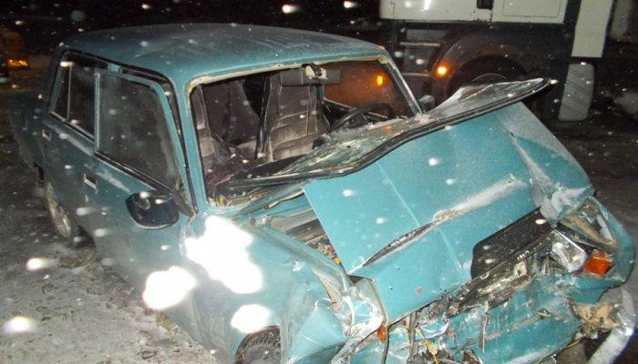 ВЯранском районе «семерка» протаранила автобус